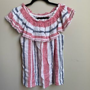 JustFab stripped cotton blouse